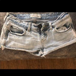 Aero denim shorts